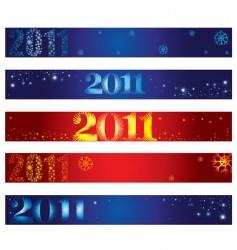 shining Christmas banners vector image