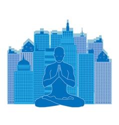 urban yoga vector image