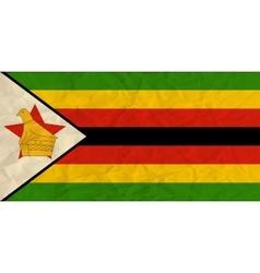 Zimbabwe paper flag vector image vector image