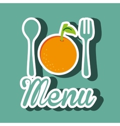 Healthy vegetarian food label isolated icon design vector