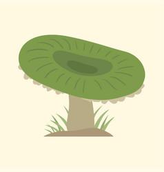 Poisonous green mushroom nature food vegetarian vector