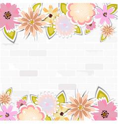 Floral template for cardweddingparty invitation vector