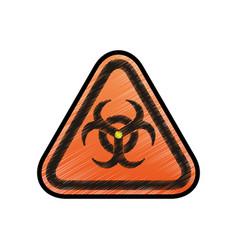 biohazard advert sign vector image