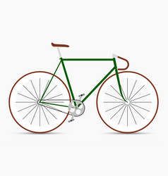 Hipster single speed bike in green and brown vector