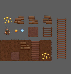 Tiles elements game pack vector