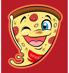Cute pizza vector