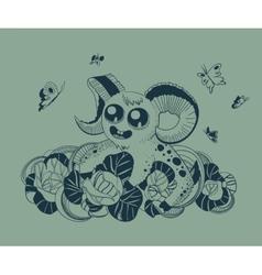 cute fantastic Aries vector image