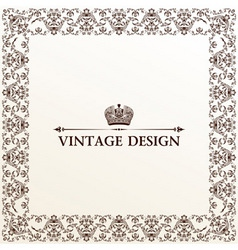 vector vintage royal retro frame ornament vector image