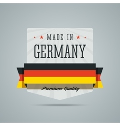 Made in Germany label vector image