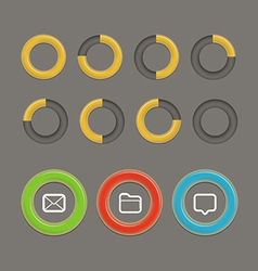 Different circle charts infographic elements vector