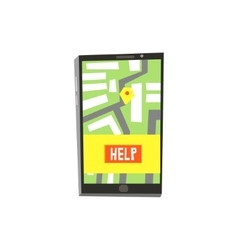 Smartphone Application For Emergency Evacuation vector image