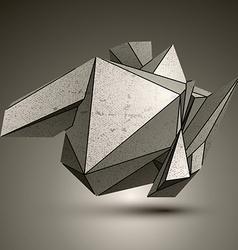 Asymmetric technical zink object contrast vector