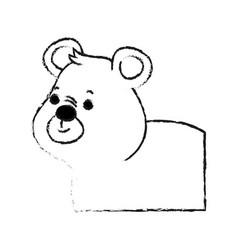 Bear cute animal cartoon icon image vector