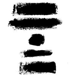 Black Blots vector image