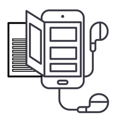 bookaudiosmartphone line icon sign vector image