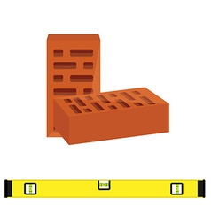 Brick and consturction level vector image