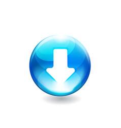 Button arrow vector