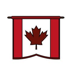 Canadian cartoon flat vector