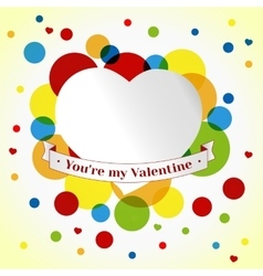 Card Valentin day vector image vector image