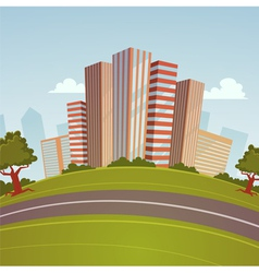 Cartoon Cityscape vector image