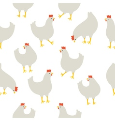 Chicken pattern white vector