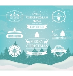 Christmas Decorations Design Elements vector image