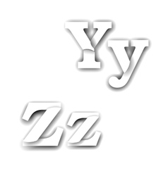 Compound letters yz vector