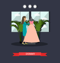 Dummy concept in flat style vector