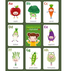 Flashcard alphabet from a to h vector