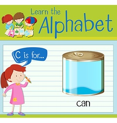 Flashcard letter C is for can vector image