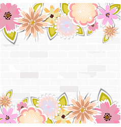 Floral template for cardweddingparty invitation vector