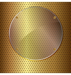 gold and glass circle vector image vector image