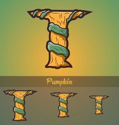 Halloween decorative alphabet - T letter vector image vector image