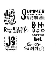 hand drawn brush lettering summertime concept vector image