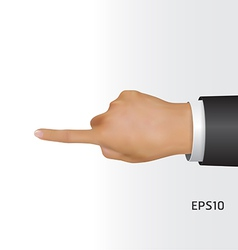 hand touching screen vector image vector image