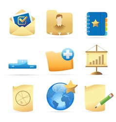 Icons for business metaphor vector image vector image