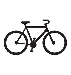 Isolated bicycle icon vector