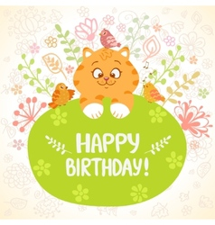 kitten birthday vector image