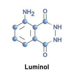 Luminol chemical chemiluminescence vector