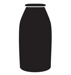 Milk bottle icon on white background milk bottle vector