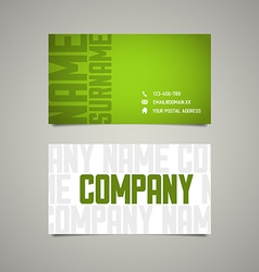 Modern simple business card template with big vector image vector image