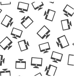 monitor seamless pattern vector image