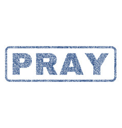 Pray textile stamp vector