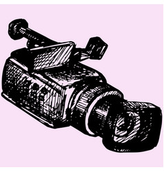 professional camcorder vector image vector image