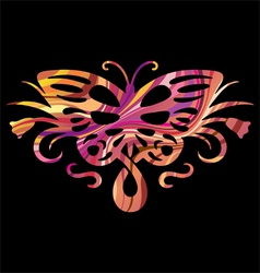 rainbow butterfly in vector image