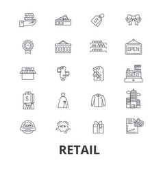 retail shopping mall consumerism sales shop vector image vector image
