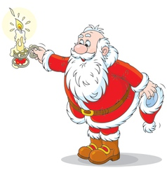 Santa Claus with a candle vector image vector image