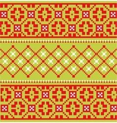 Scandinavian embroidery pattern vector