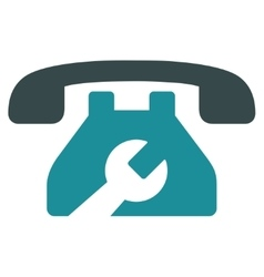 Service Phone Icon vector image