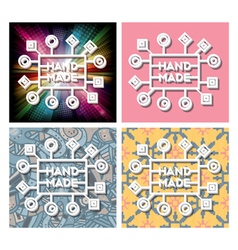 Set of hand made label vector image